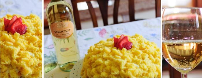 Torta Mimosa e Verduzzo