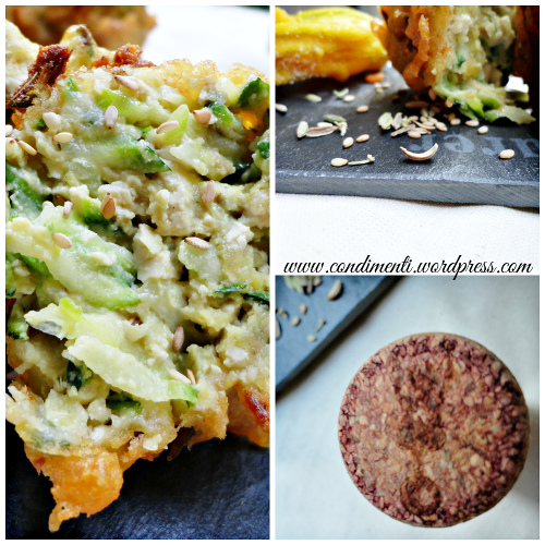 Frittelle di tofu e zucchine con Raboso Frizzante