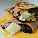 Crespelle di castagne e formaggi veneti